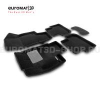 Текстильные 3D коврики Euromat3D Premium в салон для Volkswagen Tiguan (2017-) № EMPR3D-005415