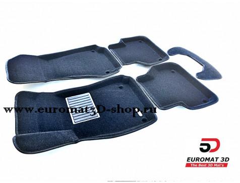Текстильные 3D коврики Euromat3D Business в салон для Audi A4 (2016-) № EMC3D-001102