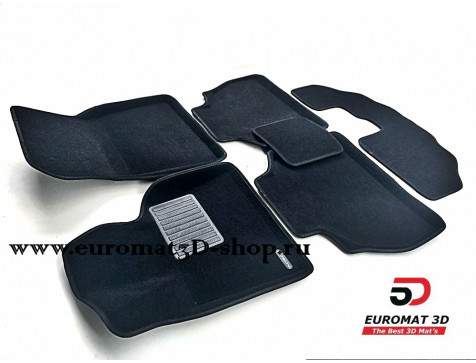 Текстильные 3D коврики Euromat3D Premium в салон для Bmw X7 (G07) (2019-) (7 мест) № EMPR3D-001226.1