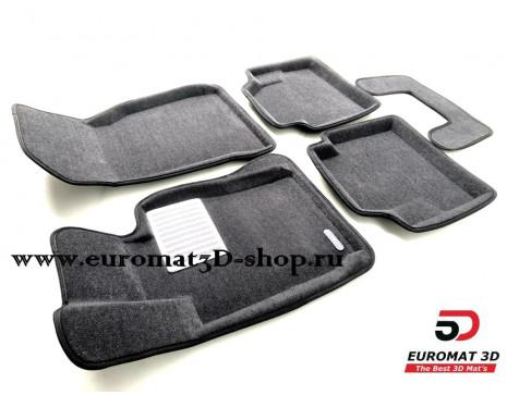 Текстильные 3D коврики Euromat3D Lux в салон для Bmw 4 (F32/33) (2012-) № EM3D-001221G Серые